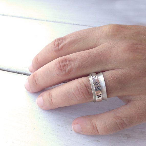 Latitude Longitude Spinner Ring Sterling Silver by PiscesAndFishes