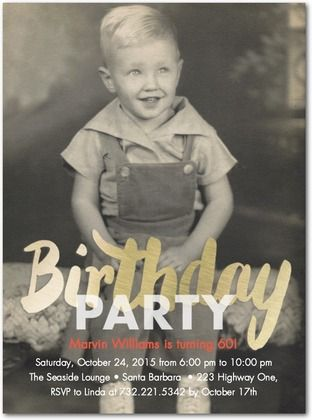 Pure Gleam - Adult Birthday Party Invitations in White or Slate | Petite Alma