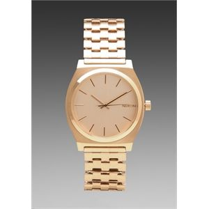 Nixon The Time Teller in Metallic Gold