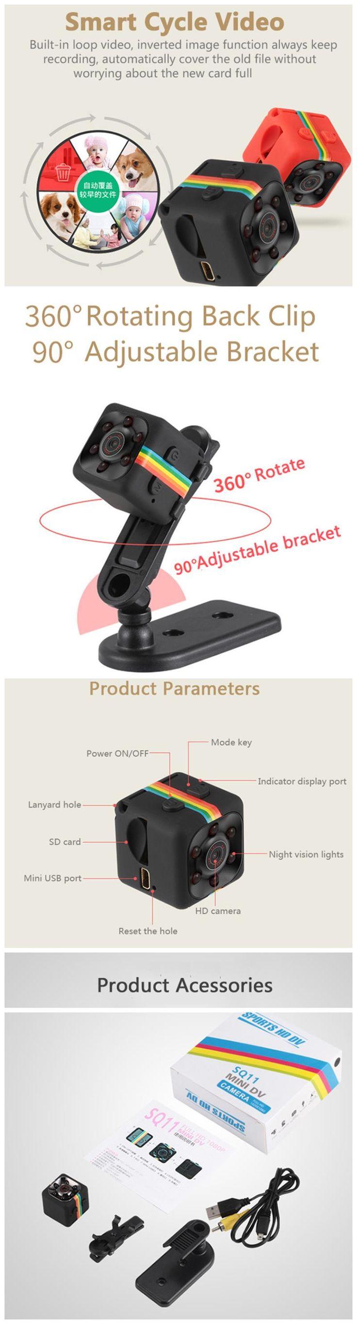 Original iMars™ Mini Camera SQ11 HD Camcorder HD Night Vision 1080P Sports Mini DV Video Recorder