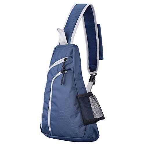 OMorc Sling Bag Sling Backpack One Strap Backpack for Hiking or Multipurpose Daypack and School Handbag for Man Women  Blue *** Details can be found by clicking on the image.Note:It is affiliate link to Amazon.
