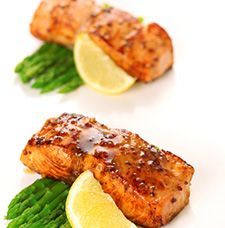 pave de saumon au miel et a la moutarde