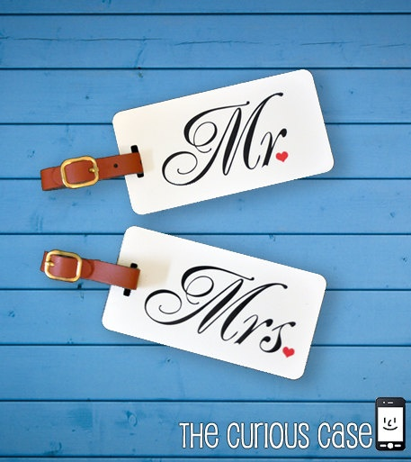 Mr and Mrs Luggage Tag Set