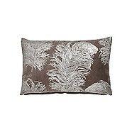 Harlequin Light brown cotton velvet 'Operetta' cushion | Debenhams
