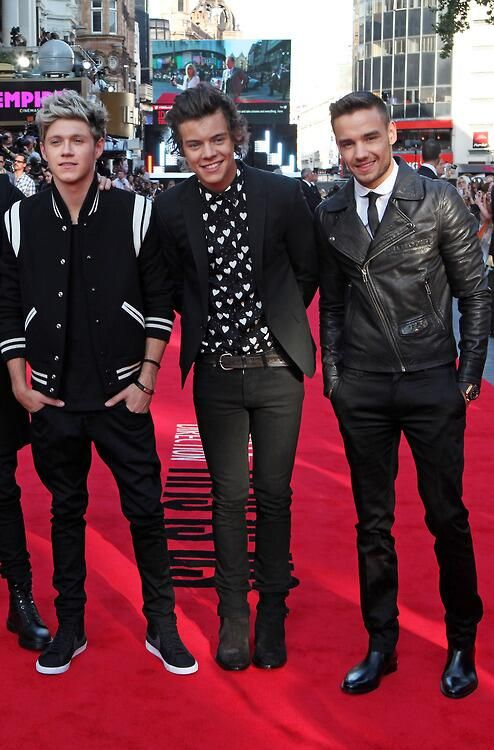 Niall Horan, Harry Styles and Liam Payne - This is us premiere
