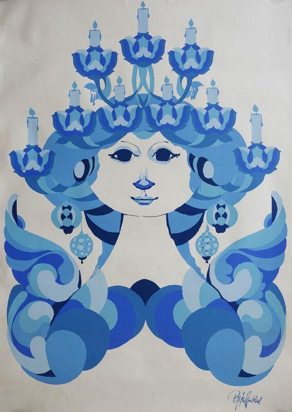 1960s Wiinblad Candle Lady  Original Vintage by OutofCopenhagen