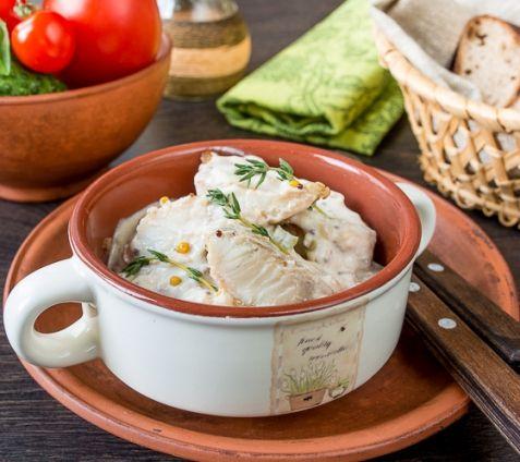 Треска в сливочном соусе с горчицей | Блюда из рыбы и морепродуктов | Рецепты | ONLINE.UA
