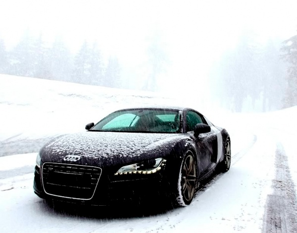 Audi R8 in the snowSports Cars, Winter, Audi R8, Riding, Cool Cars, Wheels, Snow, Things, Dreams Cars
