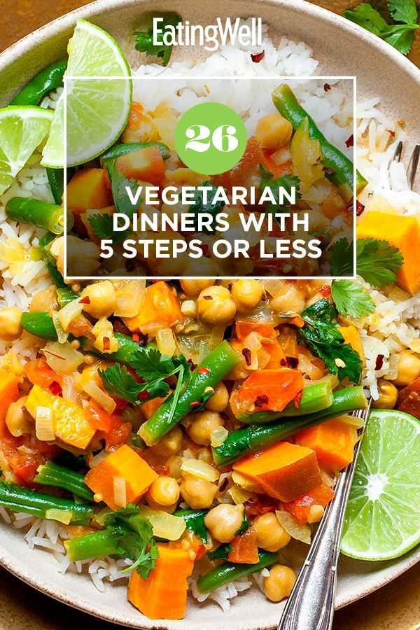 26 Vegetarian Dinners With 5 Steps Or Less In 2020 Vegetarian Dinners Vegetarian Recipes Easy Vegetarian Dinner