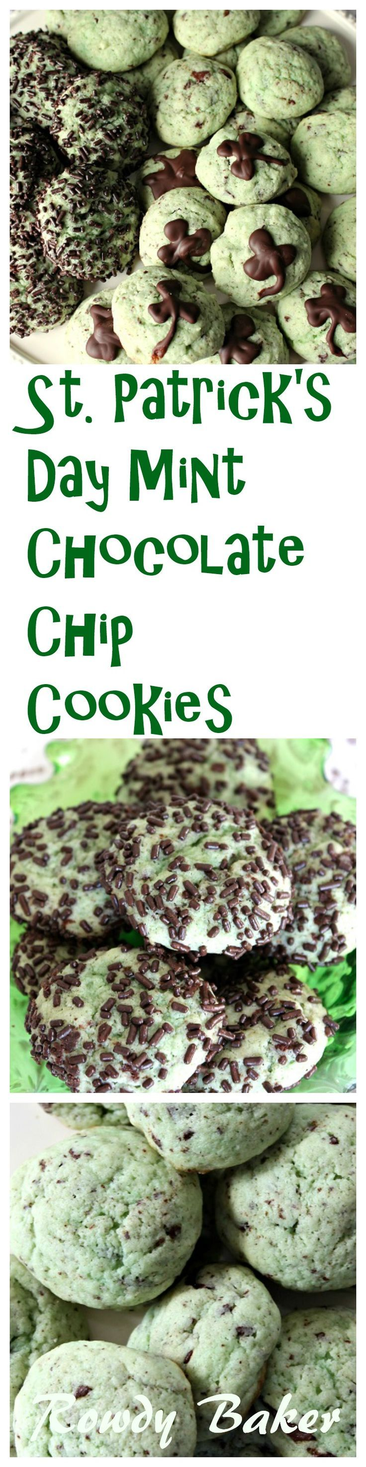 St. Patrick's Day Mint Chocolate Chip Cookies! Light and airy, these cake-like cookies will melt in your mouth! The peppermint schnapps gives thecookie a subtle mint flavor (you can add a little peppermint extract if you want them mintier) and…