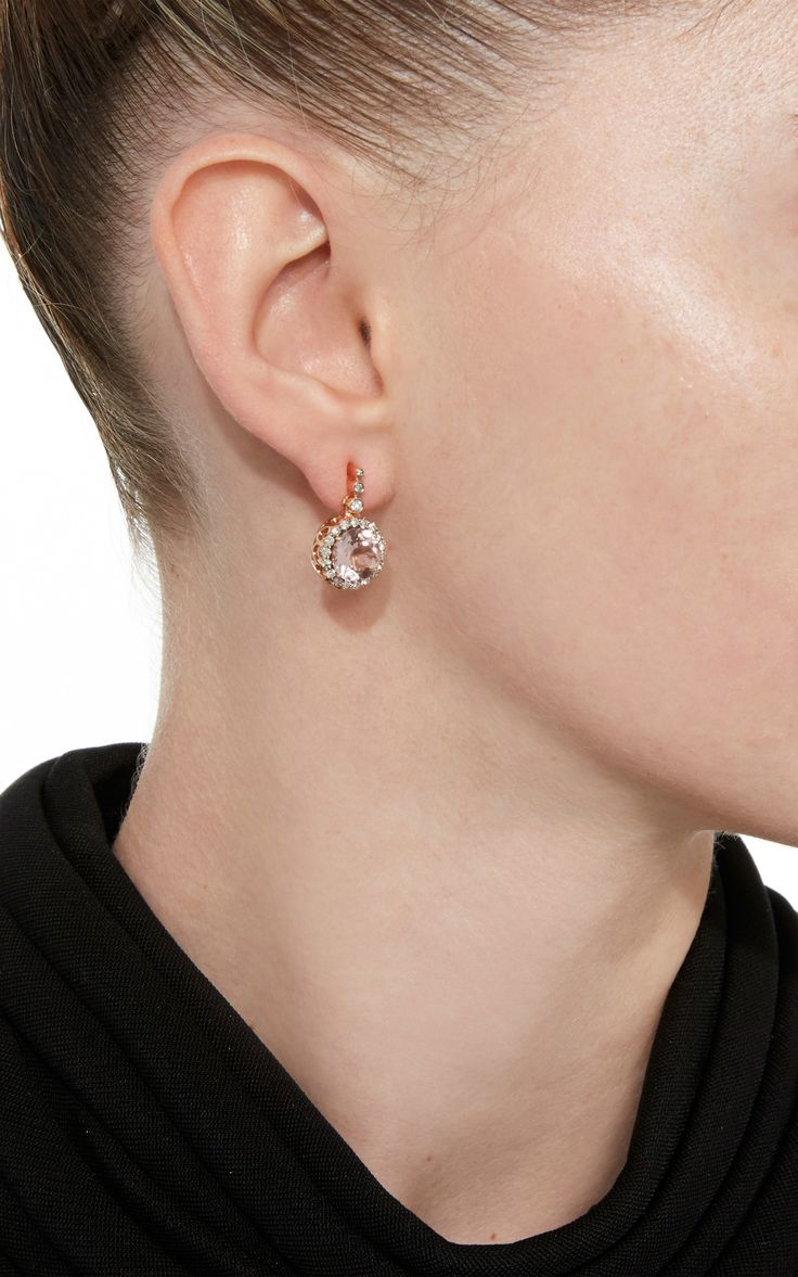 Beirut Earrings with Morganite by SELIM MOUZANNAR for Preorder on Moda Operandi