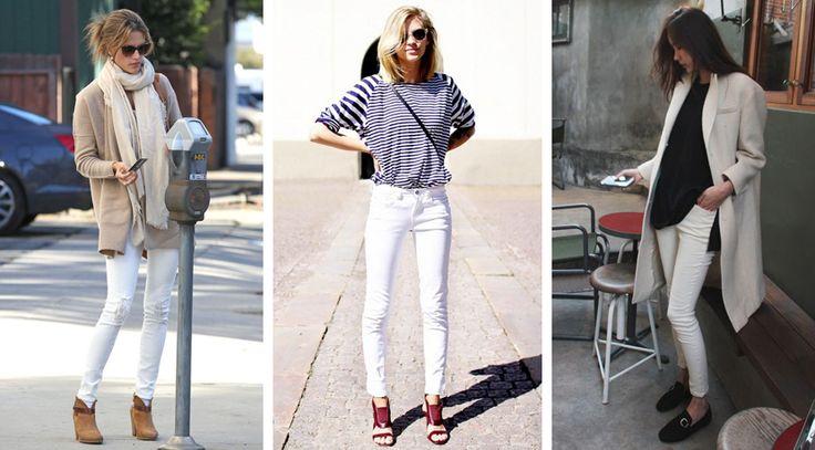 С чем носить белые джинсы?