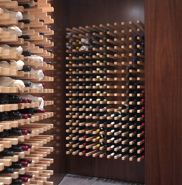 The simple design in this wine cellar could be recreated to store a wine collection of any size.