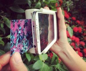Capa transforma smartphone em uma câmera Polaroid