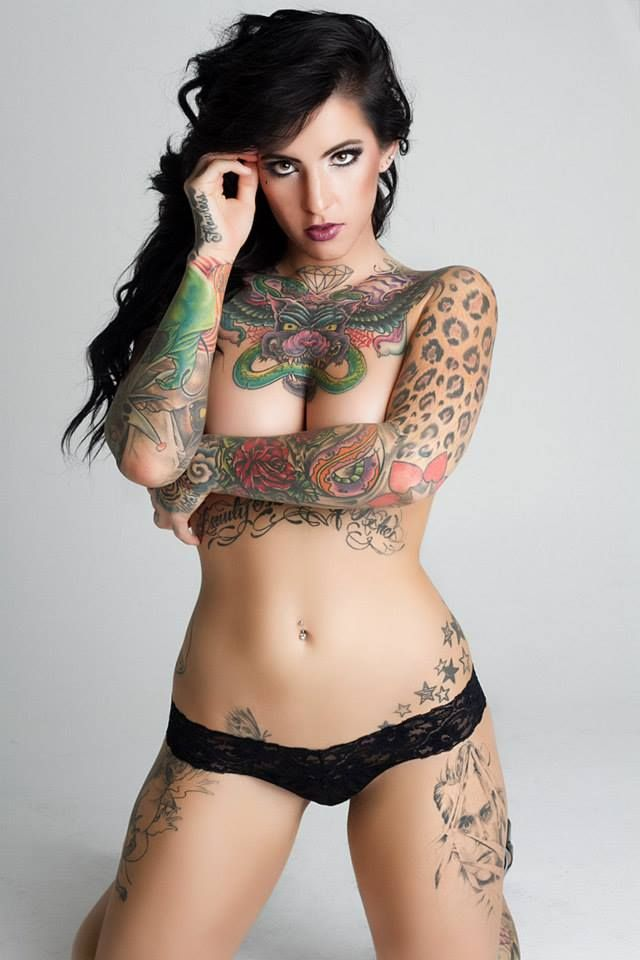 not crazy about the tats but she is very pretty