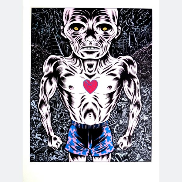 Charles Burns, Born: Washington D.C. 1955, Skin Deep, Silkscreen, 80 x 60 cm, 1990