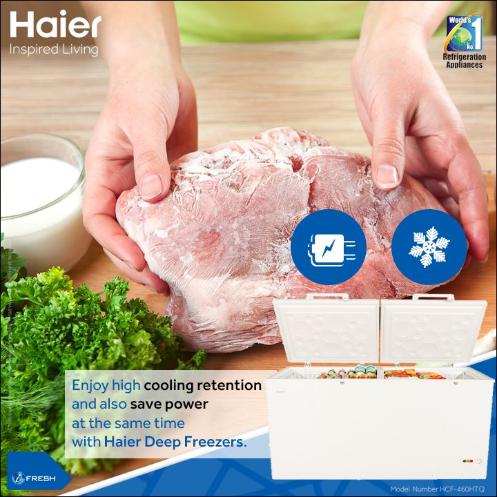 With improved aesthetics  and tropicalized compressor perfect for Indian climatic conditions, #Haier #DeepFreezers are simply  ideal  for the hot summer season. #Technology #Appliance #HaierIndia #InspiredLiving #CommercialFreezer