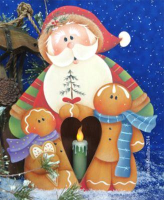 #618  Santa Candle Box (Pattern Packet)
