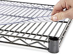 Shelf Liners, Wire Shelf Liners in Stock - ULINE - makes wire shelves usable for pens and pencils, small items etc