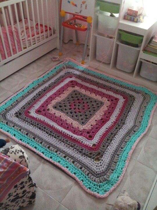 Alfombra trapillo mis trabajos pinterest trapillo and crochet - Alfombras ganchillo trapillo ...
