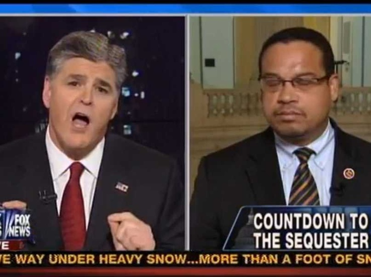 Democratic Congressman Keith Ellison Explodes At Fox News' Sean Hannity And Calls Him 'Immoral' And A Liar      Read more: http://www.businessinsider.com/sean-hannity-vs-keith-ellison-fox-news-interview-2013-2#ixzz2M6hgBxAM