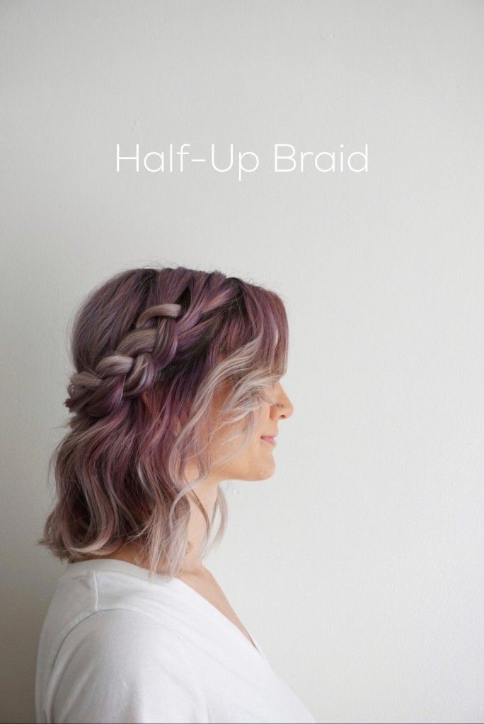 Five ways to wear shoulder length hair Half Up Braid | Hairstyles