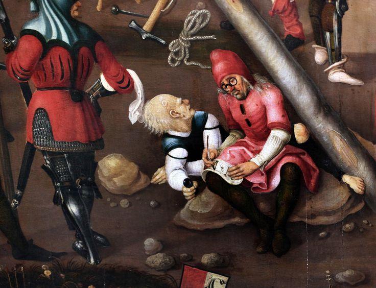 https://flic.kr/p/h3WDE7 | IMG_5799K Master of Strasbourg. Active around 1510-1520. | Maître de Strasbourg. Actif vers 1510-1520.  Crucifixion avec en arrière plan des scènes de la passion.  Francfort Städelmuseum.   Master of Strasbourg. Active around 1510-1520. Crucifixion in the background with scenes of passion. Frankfurt Städelmuseum.