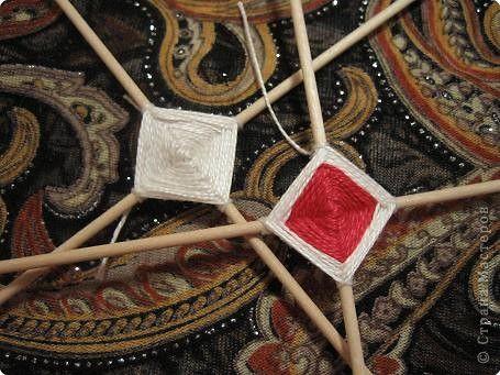 Мастер-класс Поделка изделие Плетение Радужная мандала Пряжа фото 9