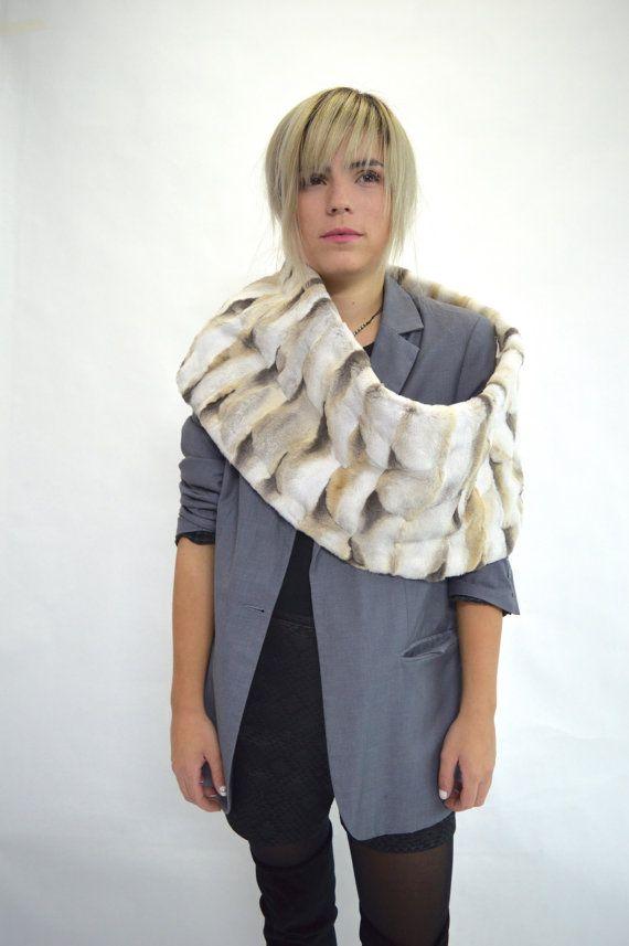 Real fur collar fox collar sheared fox fur cowl fur by BeFur