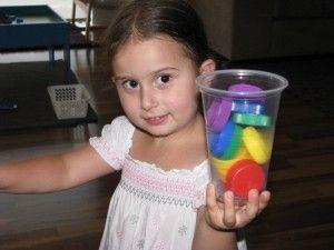 Rainbow Rice & Bottle Tops