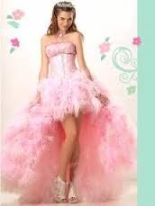 Vestido corto adelante largo atr 225 s rosa perla vestidos de 15