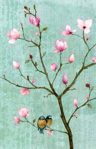 Hermosas naturaleza pinterest pictures of turquoise for Simple cherry blossom painting