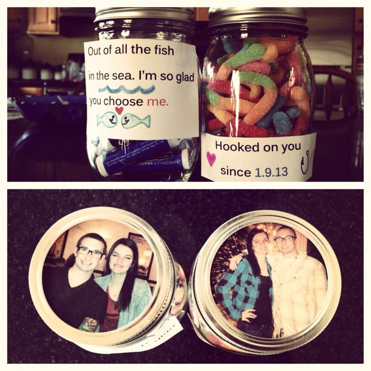 """i want to do the first jar except it saying """"out of all the fish in the see i am glad i chose you"""