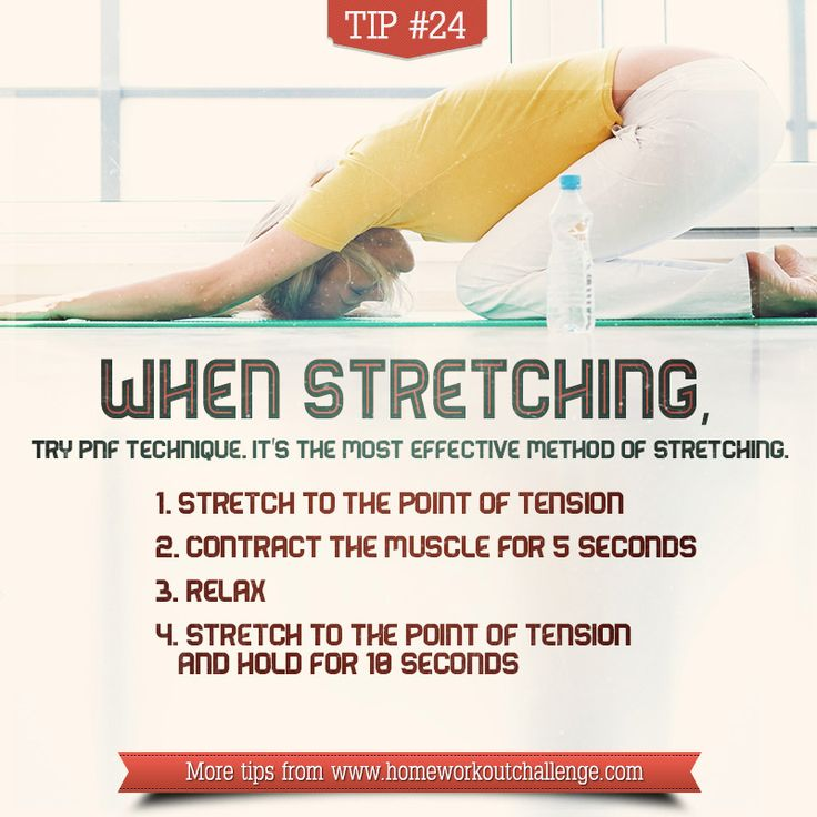 The PNF technique is the most effective method of stretching! It was originally developed as a form of rehabilitation and is a more advanced form of flexibility training designed to give fast results. Will learn more about it and do it from now on!