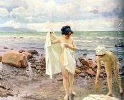 Badende Kvinder (The Bathers)  by Paul-Gustave Fischer