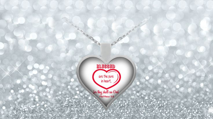 * JUST RELEASED *'Blessed are the pure in heart for they shall see God'Heart Necklace.Limited Time OnlyThis itemis NOT available in stores.Guaranteed safe checkout:PAYPAL | VISA | MASTERCARDClickBUYIT NOWTo Order Yours!(100% Printed, Made, And Shipped From The USA)