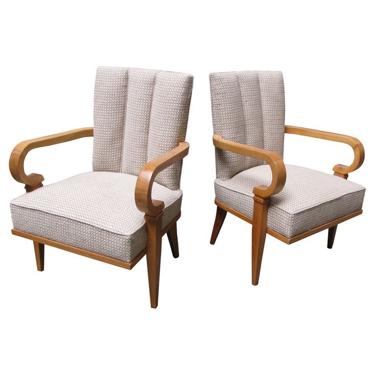 Two 1940s Armchairs by Etienne-Henri Martin