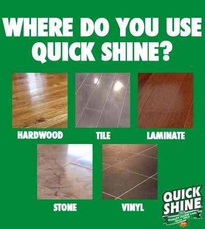 Comment with your answer below! www.quickshine.net   #quickshine #floors #cleaning