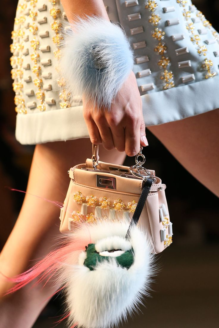 Fendi spring summer 2015 runway bag collection spotted fashion - Fluffy Stuff Fendi Spring 2015 Ready To Wear