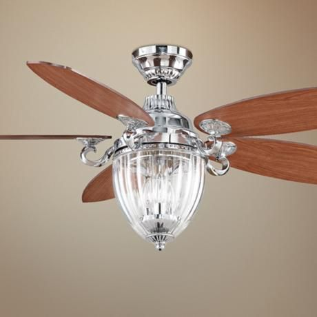 Quot fanimation stonehill chrome ceiling fan with light kit lamps plus
