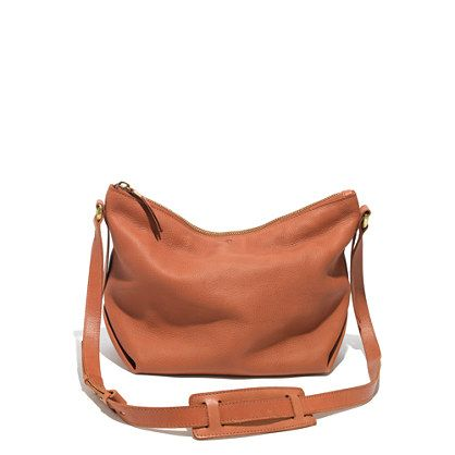 a0da44b63dc9 The Sutton Hobo in Sandstone - a slouchy, soft, leather crossbody bag with  adjustable shoulder strap #madewell | dream closet | Hobo crossbody bag,  Bags, ...