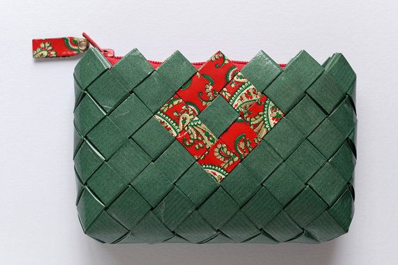 Candy Wrapper Bag, handmade clutch bag, coin purse