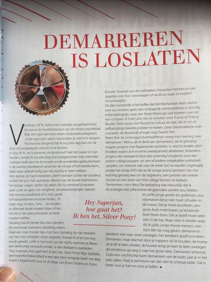 column voor het ASC/AVSV Lustrum blad.