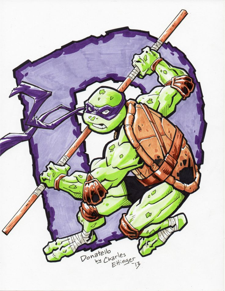 TEENAGE MUTANT NINJA TURTLES DONATELLO by CharlesEttinger.deviantart.com on @deviantART