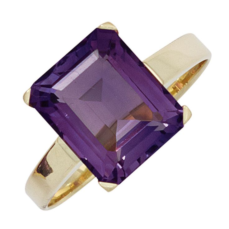 Damen Ring 585 Gold Gelbgold 1 Amethyst lila violett Goldring | günstig Gr.50-60 http://www.ebay.de/itm/Damen-Ring-585-Gold-Gelbgold-1-Amethyst-lila-violett-Goldring-guenstig-Gr-50-60-/162568291724?ssPageName=STRK:MESE:IT