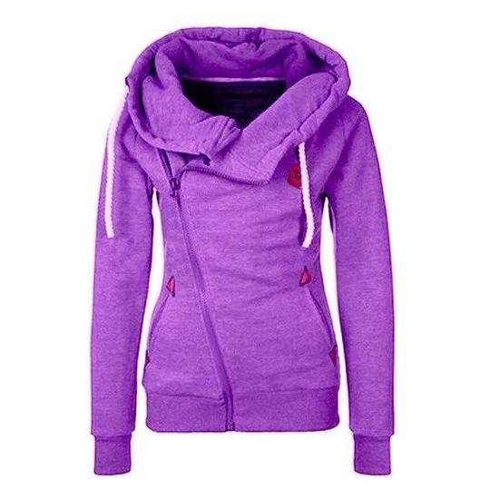 RENBANG Plus Size Women Hoody Autumn Winter Women Zipper Hoodies Thick – uotel... 2