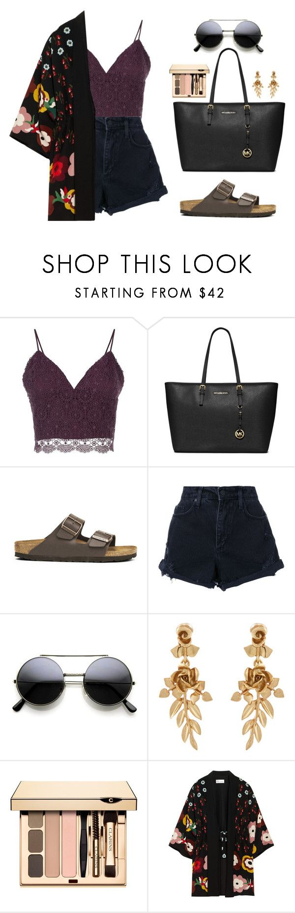 """""""Seungkwan X Christmas Beach Party"""" by jleeoutfitters ❤ liked on Polyvore featuring Related, MICHAEL Michael Kors, Birkenstock, Nobody Denim, Oscar de la Renta and RED Valentino"""