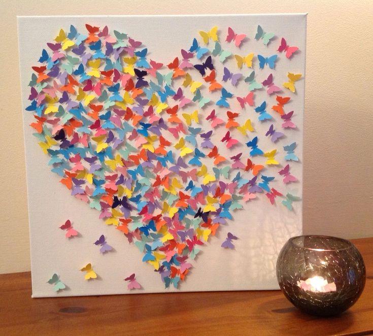 Vouw nu zelf de leukste papieren 3D vlinders om mee te decoreren... leuk voor jong en oud! - Zelfmaak ideetjes