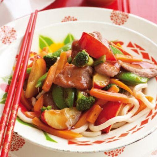 Pork and plum stir-fry | Healthy Food Guide