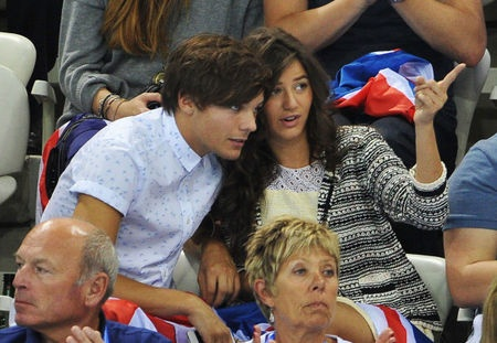 Louis And Eleanor At The Olympics | Louis Tomlinson and Eleanor Calder cheer Team GB at the Olympic diving ...